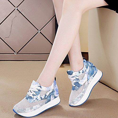 blue Bas NGRDX Épais De Faible Femme Respirante Gâteau Occasionnels amp;G summer Baskets Creux Chaussures Chaussures qwBOaxp4