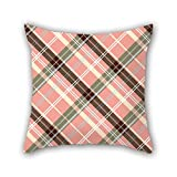 PILLO 18 x 18 inches / 45 by 45 cm tartan throw cushion covers ,each side ornament and gift to him,father,gril friend,home,kids boys,bedroom