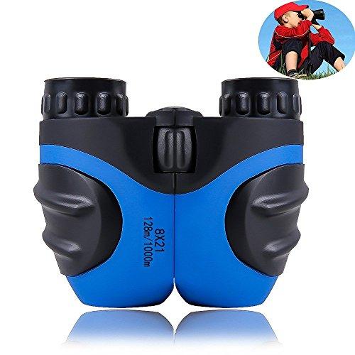 ZZY Binoculars For Kids, Mini Compact 8 x 21 Best Pocket Binoculars, Waterproof Ultra-Vision Telescopes For Travel Bird Watching adults Teens (Color : Blue)