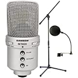 Samson Audio GM1U G-Track Condenser Microphone w/ Built-in USB Audio Interface w/ Pop Filter and Microphone Stand