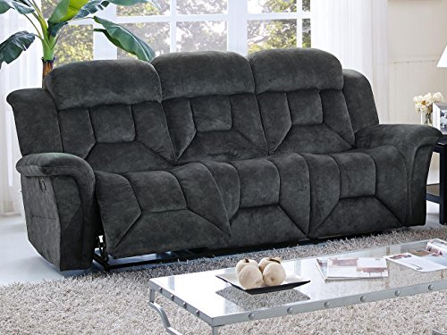 Jarvis Dual Power Motion Recliner Sofa in Charcoal