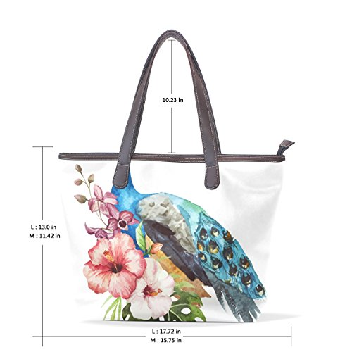 Bags Tote Top Bennigiry Large Handle Patern Peacock Shoulder Ladies Women Handbag Floral EqOYH