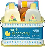 Health & Personal Care : Johnson's Bath Discovery Gift Set For Parents-To-Be, Caddy With Bath Essentials, 8 Items