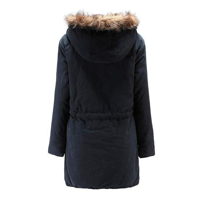 ASHOP Ropa Mujer, Chaquetas de Mujer para Invierno Abrigo Negro Hoodie Sudadera con Capucha (