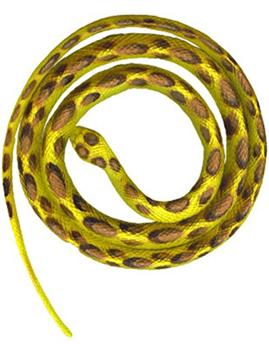 Rubber Yellow Halloween Decoration Snake