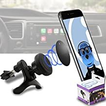 Case Compatible Multi-direction (Use with or without your existing case!) Black Magnetic Air Vent In Car Holder for ZTE Grand X2 IN