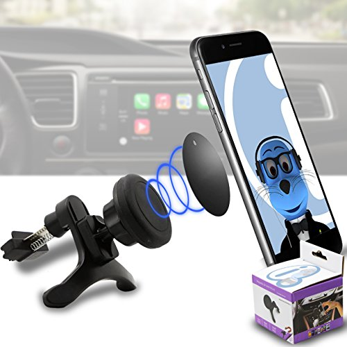 Price comparison product image Case Compatible Multi-direction (Use with or without your existing case!) Black Magnetic Air Vent In Car Holder for Xiaomi Mi A1 (5X) 2017