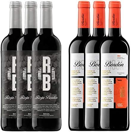 Pack Vinos Crianza D.O.C Rioja (6 Botellas) - 3 RB + 3 Bordón Crianza: Amazon.es: Alimentación y bebidas