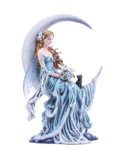 Pacific Giftware Four Elements Celestial Moon Fairy Figurine Earth Wind Frost Fire Collectible Figurine Nene Thomas Art Inspiration Official Licensed Collectible 12 Inch Tall (Wind)