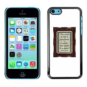 Cartel Notebook Diary blanca Escribir texto- Metal de aluminio y de plástico duro Caja del teléfono - Negro - iPhone 5C