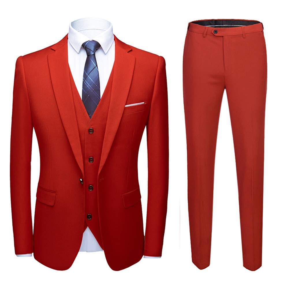 Sliktaa Costume Homme 3 Pièces Slim Fit Formel Multicolore Smoking de Mariage  Business Soirée Veste Gilet 7513668393f