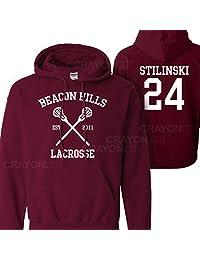 Mars NY Women's Men's Teen Wolf Beacon Hills Lacrosse Stilinski 24 Hoodie (Medium)