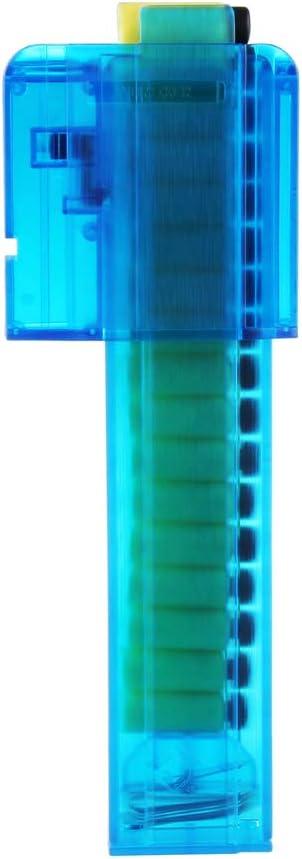WORKER Mod Narrow Magazine Talon Dragon Claw 18 Short Darts Magazine Clip Toy Adapter, Blue