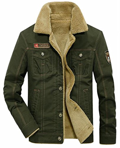Military today Cotton Men's UK Fleece Green Bomber Jacket Winter Lined Jacket Jacket UqUzarwZx