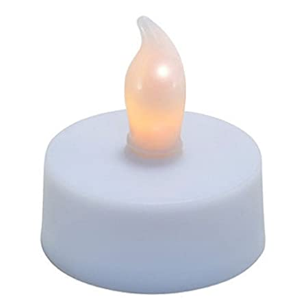 best service a017f 45117 48 x LED FLICKERING TEA LIGHT CANDLES - INCLUDED BATTERY OPERATED EASY &  SAFE TO USE - LONG LASTING BATTERIES - GREAT FOR DECORATIONS / PARTIES / ...