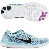 Nike Free 4.0 Flyknit Women's Running Shoes, 6, COPA/BLACK-BLUE LAGOON-GRND PURPLE