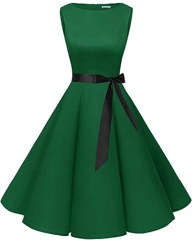 bbonlinedress 50s Retro Schwingen Vintage Rockabilly Kleid Faltenrock