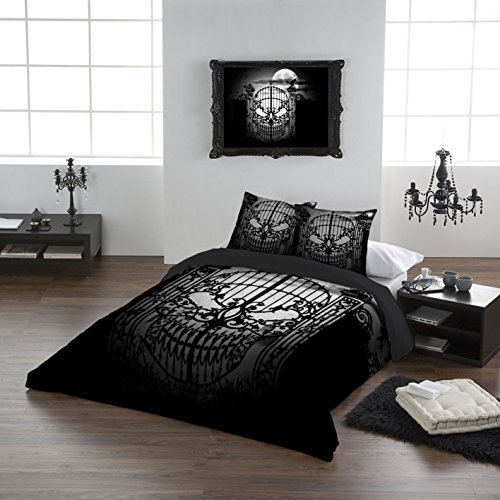 Alchemy Gothic Abandon No Hope USA Queen Duvet  Comforter Cover Set 89 X86. Gothic Bedding  Amazon com
