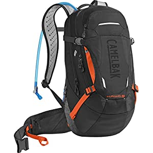 CamelBak H.A.W.G. LR Crux Lumbar Reservoir Hydration Pack, Black/Laser Orange, 3 L/100 oz