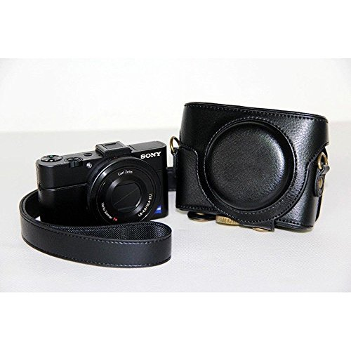 TechCare Ever Ready Protective Leather Camera Case Bag for Sony Cyber-shot DSC-RX100 IV Sony DSC-RX100M IV Cyber-shot Digital Still Camera (Black) Sony DSC-RX100M IV case