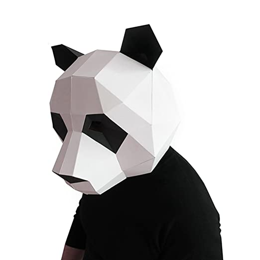 Geek House Modern Aesthetics Low Poly Mask DIY Paper Art Animal Series Headgear For
