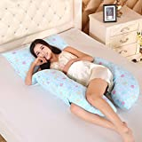 LUOTIANLANG cotton type U ergonomically designed pillow for pregnant women in pregnancy and lactation pillow adjusting detachable multifunctional pillow height,G,Free size