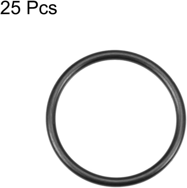O-Ringe Nitrilkautschuk 6mm-32mm Innendurchmesser 2,5mm Breite 29 mm x 34 mm x 2,5 mm sourcing map 25Stk