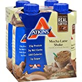 Atkins Ready To Drink Shake, Mocha Latte, 4 Count (Pack of 6)