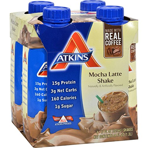 Atkins Ready To Drink Shake, Mocha Latte, 4 Count (Pack of 6) For Sale