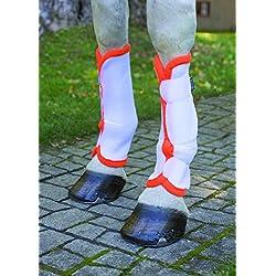 Shires Airflow Turnout Socks White/Orange Full