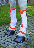 Shires Airflow Turnout Socks White/Orange Full