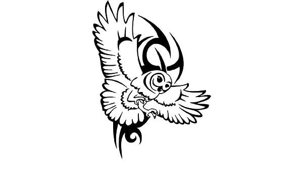 Creativo tatuaje tribal de una lechuza, vinilo, pegatinas, Deco, H ...