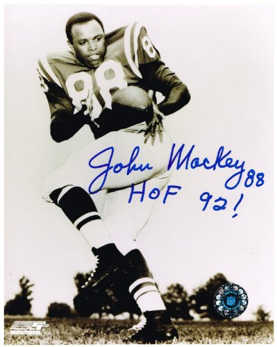 John Mackey Autographed Baltimore Colts 8x10 Photo