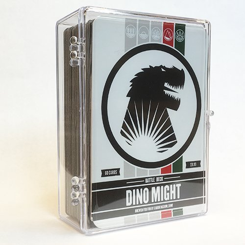 Dino Might Battle Deck. Magic the Gathering Preconstructed Deck. 60 cards. ()