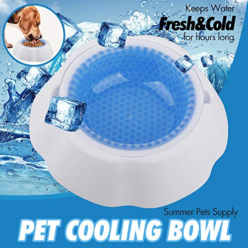 Shiny-GoGo Pet Cooling Bowl for Dogs, Cats & Other Pets, Ice Frosty Bowl Keep Water Cool and Fresh for Hours, Summer Pets Supply