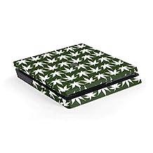 Rasta PS4 Slim (Console Only) Skin - Marijuana Leaf White Pattern | Skinit Lifestyle Skin