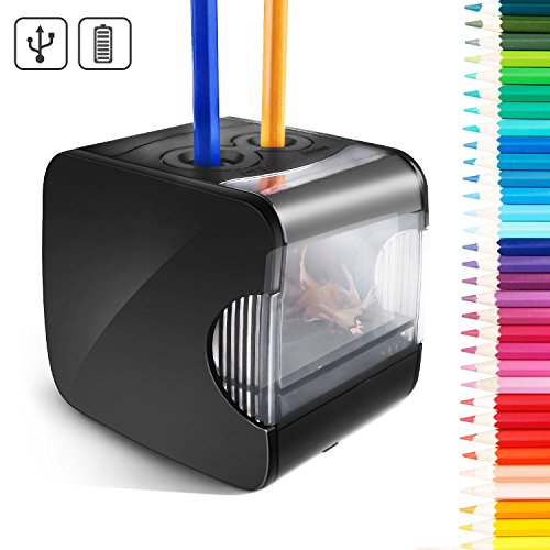 Cool-Shop Electric Pencil Sharpener - Best USB or Battery Operated Heavy Duty Pencil Sharpener for School, Home, Office, Studio by Cool-Shop
