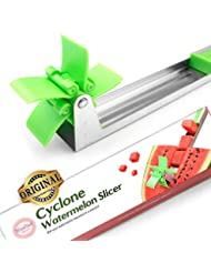 Watermelon Windmill Cutter Slicer [Original] - Weetiee Auto Stainless Steel Melon Cuber Knife - Fun Fruit Vegetable Salad Quickly Cut Tool, Best Gift For Girls Mom Friends, Must Have Kitchen Gadget