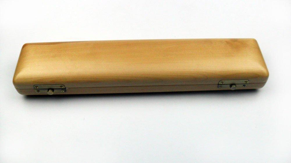 Yuge Wooden Flute Case 16 17 Holes Natural Color Musical Instrument Box (For 17 holes flute)