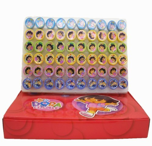 Dora Stampers Party Favors (20 (Dora The Explorer Plastic Toy Box)