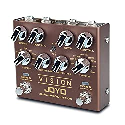 JOYO R-09 Vision Multi-effect Guitar Pedal Nine Effects Dual Channel Modulation Pedal Support Stereo Input & Output True Bypass Multi-pedal