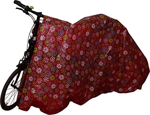 "Jumbo Christmas Gift Bag for Giant Gifts; Bike Bag 60"" x 72"" Assorted Prints, Heavy Duty Bags (2 Pack) (Snowflakes & Jingle Bells)"