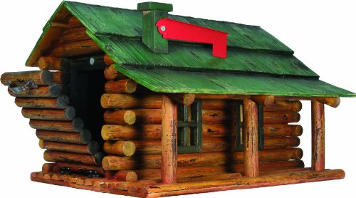 (River's Edge Log Cabin Mailbox )