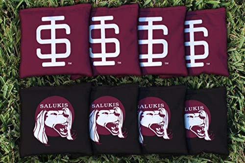 Victory Tailgate NCAA College Vault Regulation Corn Filled Cornhole Game Bag Set - 8 Bags Included - Southern Illinois Carbondale Salukis ()
