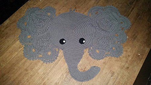 Josefina and Jeffery Elephant Rug PDF Crochet Pattern | 281x500