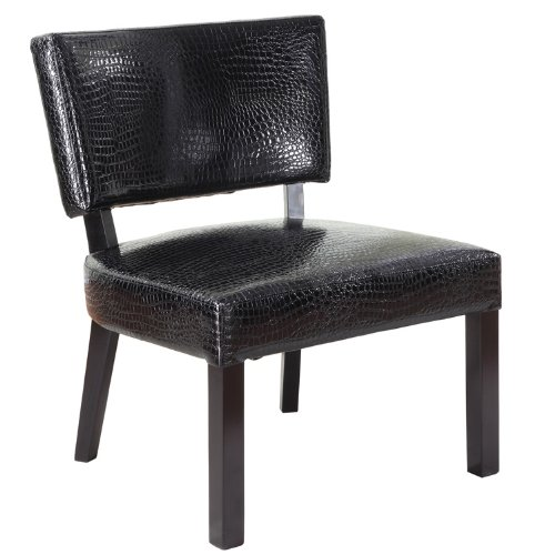 Powell Crocodile Print Faux Leather Accent Chair