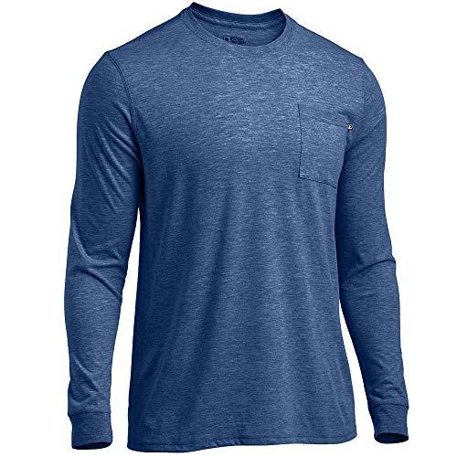 - Eastern Mountain Sports EMS Men's Techwick Vital Long-Sleeve Pocket Tee Ensign Blue Heather L