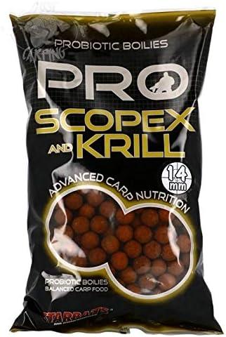 Starbaits Probiotic Scopex Krill Boilies 14mm 1kg