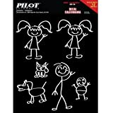 Pilot Automotive Family Stickers, 6'' x 16'' (GR118)