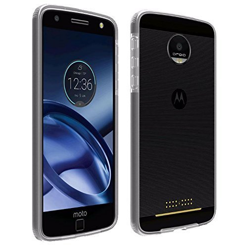 Verizon Two-Tone Slim Bumper Case Cover Skin for Motorola Moto Z Droid - Clear - In Verizon Retail Package Verizon Cell Phone Packages